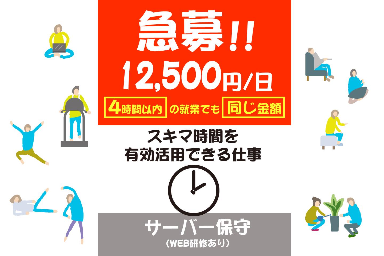 日払い・週払い求人神戸市 バイト メンテナンス サーバーの保守作業の募集 未経験者歓迎イメージ
